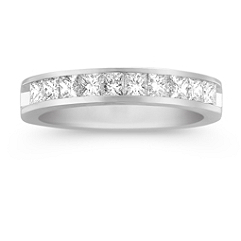 Princess Cut Diamond Channel Set Anniversary Band