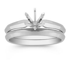 Solitaire White Gold Wedding Set