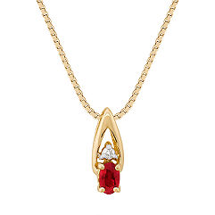 Oval Ruby and Diamond Pendant (18)