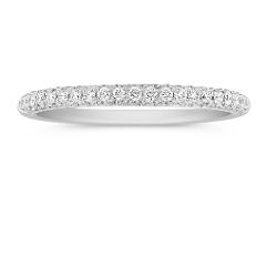Comfort Fit Diamond Pave Set Anniverversay Band