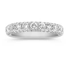 Diamond Pave Set Anniversary Band