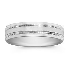 14k White Gold Comfort Fit Band (6mm)