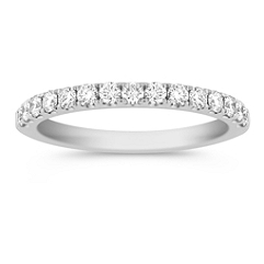 Diamond Anniversary Band with Pave Setting