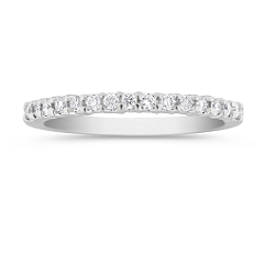 Diamond Wedding Band with Classic Setting