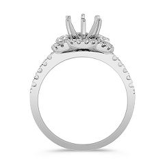 Halo Diamond Engagement Ring 3/8 ct. t.w. -