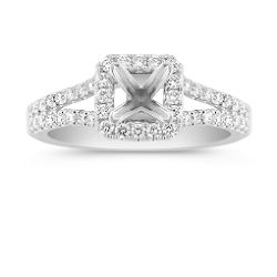 shop halo rings halo - Wedding Ring Styles