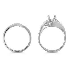 14k White Gold Wedding Set