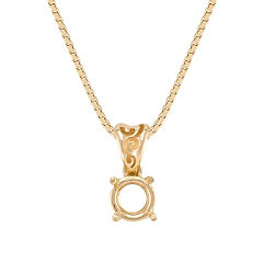 14k Yellow Gold Pendant (18 in.)