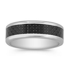 Titanium and Carbon Fiber Ring (7mm)