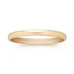 14k Yellow Gold Wedding Band (2mm)