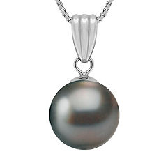"11mm Cultured Tahitian Pearl Pendant (18"")"