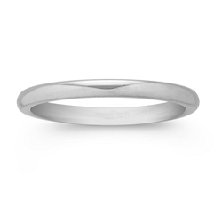 14k White Gold Comfort Fit Wedding Band (2mm)