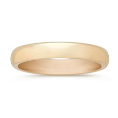 14k Yellow Gold Comfort Fit Wedding Band (4mm)