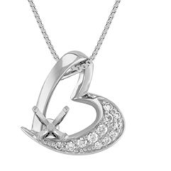 Round Diamond Heart Pendant (18)