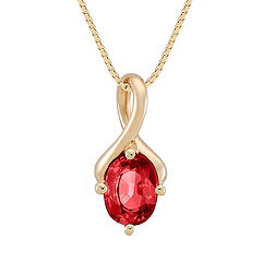 Oval Ruby Pendant (18 in.)
