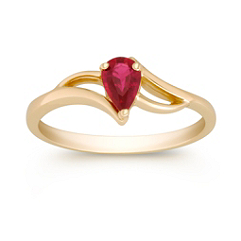 Pear Shaped Ruby Ring