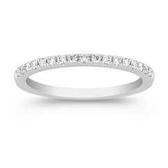 Diamond Anniversary Band in Platinum