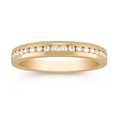 Round Diamond Anniversary Band in 18k Gold