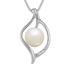 8mm Cultured Freshwater Pearl Pendant (18)