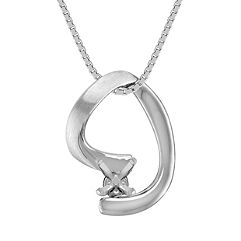 14k White Gold Pendant (18 in.)