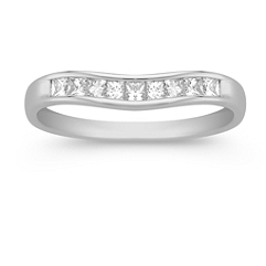 Princess Cut Diamond Contour Anniversary Band