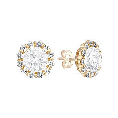 Round Diamond Earring Jackets