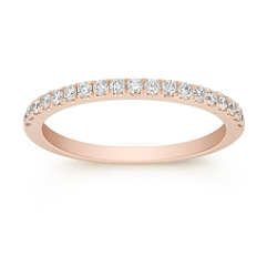 Pave Set Classic Diamond Anniversary Band in Rose Gold