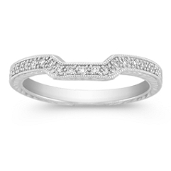 Pave Set Diamond Contour Anniversary Band