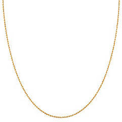 14k Yellow Gold Diamond Cut Rope Chain (20 in.)
