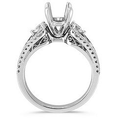 Swirl Diamond Engagement Ring