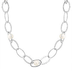 Sterling Silver and Pearl Necklace (24) 9mm Freshwater