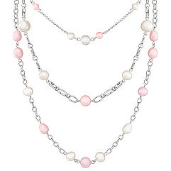 5-10mm Multi-Colored Cultured Freshwater Pearl and Sterling Silver Necklace (18)