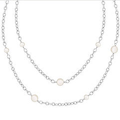5mm Cultured Freshwater Pearl and Sterling Silver Necklace (47)