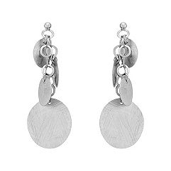 Round Circle Sterling Silver Earrings
