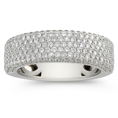 Contemporary Diamond Pave Set Ring