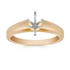 14k Yellow Gold Engagement Ring
