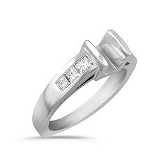 Tension Set Princess Cut Diamond Engagement Ring