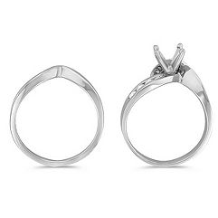 Round Diamond Wedding Set with Channel Setting