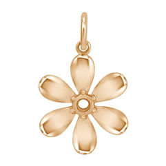14k Yellow Gold Daisy Charm