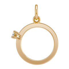 Round Diamond Ring Charm