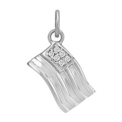 Round Diamond Flag Charm