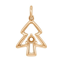 14k Yellow Gold Tree Charm