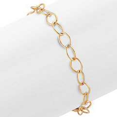 14k Yellow Gold Infinity Charm Bracelet (7.25 in.)