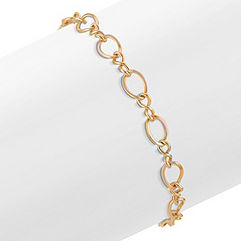 14k Yellow Gold Entwined Charm Bracelet (8.25 in.)
