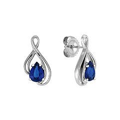 Pear Shaped Sapphire Earrings