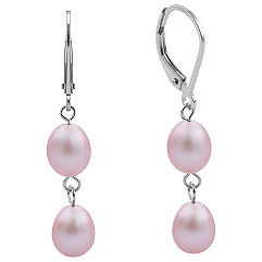 6mm Lavender Cultured Freshwater Pearl Earrings