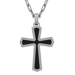 Stainless Steel Cross Necklace (22 in.)