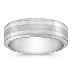 Cobalt and Sterling Silver Comfort Fit Ring (8mm)