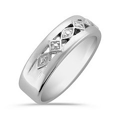 14k White Gold Ring for Him (7mm)