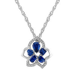 Fancy Shape Sapphire and Diamond Pendant (18)